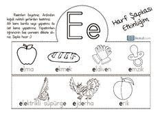 thumbnail of e sesi harf şapkası dik temel harf
