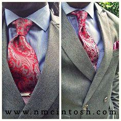 Red Crimson Grey #paisley #silktie ONLY from #nmcintosh #notinstores #wedding #menstyle #eyeforfashion #instafashion #pocketsquare #accessories #smartshirt #fashionforward #fashionblogger #modernman #gq #dapper #swagger #styledbybaison #tagsforlikes #fashion #menswear