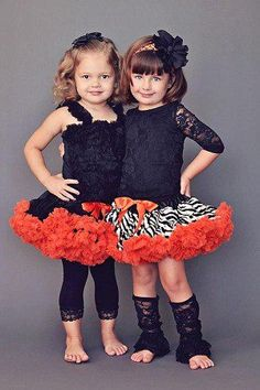 Black and Orange & Zebra Pettiskirt