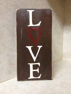 SALE SALE SALE - Love sign - On Sale $15 - Wood Sign