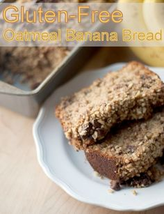 Gluten-Free Oatmeal Banana Bread -- delicious!! #glutenfree