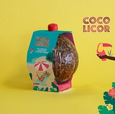 Packaging Design for Coconut Liqueur with Summer Vibes Design Agency: MoKalache.Design Brand / Project Name: Coco Licor Location: Spain Category: World Brand & Packaging Design Society Juice Packaging, Beverage Packaging, Brand Packaging, Packaging Design, Detox Cleanse Drink, Almond Bars, Keto Supplements, Raspberry Ketones, Logos
