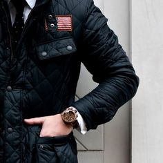 Jeffries Quilted Jacket by Barbour x Steve McQueen