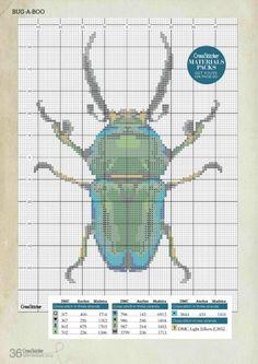 Gallery.ru / Photo # 1 - CrossStitcher_256_2012 - Los-ku-tik Cross stitch pattern huge beautiful beetle modern