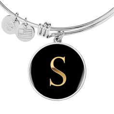 😍😍😍 This Letter S in Black Stainless Steel or Gold is the perfect gift for that Daughter, Mom or Best Friend who wants to know they are cherished 💛💛💛 This makes a great gift which can be worn to any special formal occasion or every day reminding them of the special person that gave it to them. Comes with Free High-Quality Custom Gift Box. 100% Satisfaction Guaranteed Custom Gift Boxes, Customized Gifts, Pearl Jewelry, Bridal Jewelry, Jewlery, Bangle Bracelets, Bangles, Necklaces, Circle Pendant Necklace