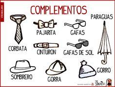 Vocabulario complementos ropa español