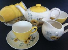 Retro Kitsch Vintage 1950's J & G Meakin Tea by OhmyKitschVintage on Etsy, £54.00
