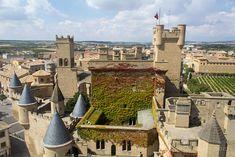 El palacio real de Olite desde lo alto de una de sus torres