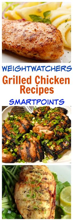 Grilled Lemon Chicken Must Try! 27 weight watchers grilled chicken recipes with smart points -so easy, healthy and delicious! 27 weight watchers grilled chicken recipes with smart points -so easy, healthy and delicious! Poulet Weight Watchers, Plats Weight Watchers, Weight Watchers Chicken, Weight Watchers Meals, No Calorie Foods, Low Calorie Recipes, Easy Healthy Recipes, Healthy Meals, Delicious Recipes