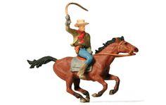 Preiser 29065 Physiques More Physiques Cowboy on horseback Spur H0 - メルクリン・フライシュマン・PIKO・ROCO・海外欧州鉄道模型通販【ワールド・トレイン】