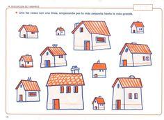 Trek een lijn van het kleinste huis naar een steeds groter huis, free printable Family Theme, Clay Houses, Love You Dad, Preschool Activities, Doodles, Clip Art, Holiday Decor, Pattern, Home Decor