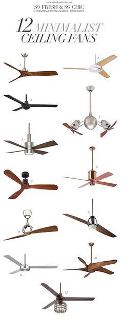 [For The Home] 12 Minimalist Ceiling Fans