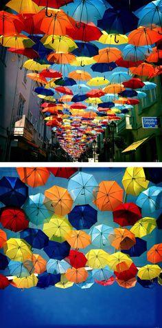 Umbrella canopy / Agueda, Portugal