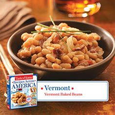 50 States in 50 Days:  Vermont :: Vermont Baked Beans Recipe from Taste of Home    Find regional Northeastern recipes like this one and more in our new cookbook, Recipes Across America---->  http://www.tasteofhome.com/rd.asp?id=22997