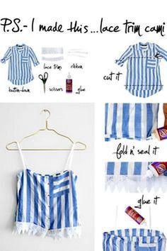 Ahora que estamos en pleno verano este DIY te viene perfecto. Esa camisa de hombre que no usa o esa que...