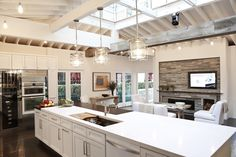 House Beautiful Kitchen of the Year 2012 | Andover Pendants in Polished Nickel