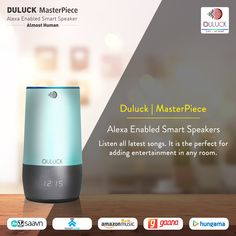 With a new speaker and design, MASTERPIECE is a voice-controlled smart speaker designed for any room. Just ask for music, news, control compatible smart home devices and more.  #Duluck #smartspeaker #Alexaenabled #Alexadevices #Smartdevices #Smartgadgets #shopnow #products #sale Fm Music, Music App, Google App Store, Alexa Enabled Devices, Alexa App, Alexa Device, Smart Home Automation, Home Phone, Speaker Design