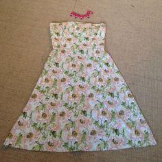 Anthropologie Strapless Dress Small