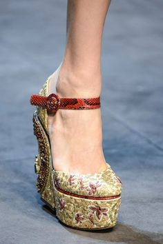 Dolce and Gabbana shoes AW13...we love the detail.