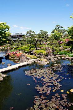 """Japanese garden - """"Yuushien"""" ,Shimane, Japan"""