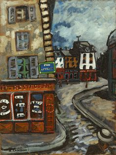 Auguste Chabaud, Coin de rue à Montmartre on ArtStack #auguste-chabaud #art