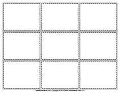 Printable Index Card Templates: 3x5 and 4x6 Blank PDFs … | Pinteres…