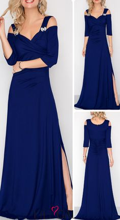 Elevate your style with trending styles from Rotita.This navy blue dress  will shine with an eye-catching color and unique trim at theshoulder. 289b215e317