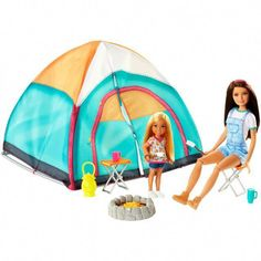 Barbie Camping Fun Dolls And Playset - - Bonecas e brinquedos Barbie Doll Set, Doll Clothes Barbie, Barbie Dream, Mattel Barbie, Barbies Dolls, Accessoires Barbie, Barbie Playsets, Chelsea Doll, Barbie Miniatures