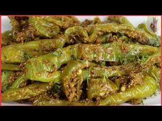 एवढी चटपटीत दही मिर्ची केली तर वेगळ्या भाजीची गरज लागणार नाही🌶️ Dahi Hari Mirch Recipe🌶️ Curd Chilli - YouTube Chilli Recipes, Asparagus, Pickles, Vegetables, Youtube, Food, Studs, Veggies, Vegetable Recipes