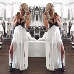 Cutout Front Lace Up Back Empire Waist Maxi Dress-  Hot night out? You need this Maxi!  -uoionline.com