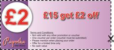 Spend £15 and Get £2 off