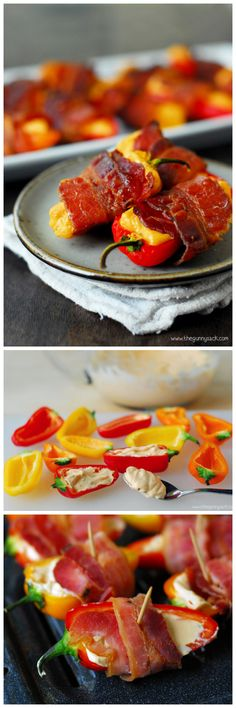 Spicy Bacon Wrapped Sweet Peppers: an appetizer recipe that everyone will love!