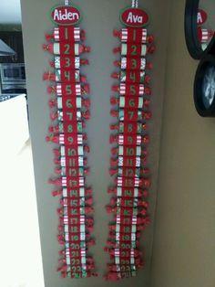 Toilet paper rolls advent calendars for each child (?) - file under: future advent ideas