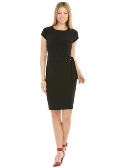 Cato Fashions Side Tie Little Black Dress #CatoFashions #catosummerstyle