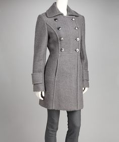 Take a look at this Kenneth Cole Gray Peacoat - Women by Kenneth Cole & Kristen Blake on #zulily today!