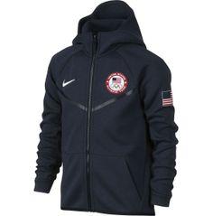 5bcbe6149755 Nike Boys  Team USA Tech Fleece Full Zip Hoodie. Usa WindbreakerNike  JacketNike ...