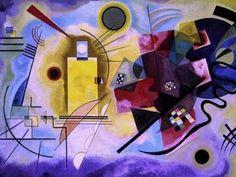 Amarillo, rojo y azul. Autor: Wassily Kandinsky. Estilo: Abstracto. Esta pintura de Kandinsky me gusta especialmente por la viveza de los colores. El cuadro puede ser interpretado como el enfrentamiento entre el marillo y el azul que sin duda, simboliza la oposición entre el día y la noche.
