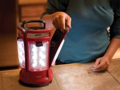 Electric lantern breaks apart into four individual lights