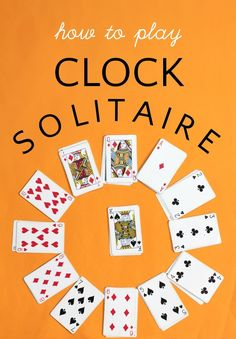Clock Solitaire Card Game: Keeps Kids Busy! How to play solitaire card game known as clock solitaire, or clock patience. Fun game to keep kids busy. Family Card Games, Fun Card Games, Card Games For Kids, Playing Card Games, Kids Cards, Kids Games To Play, Kids Puzzle Games, Clock Games For Kids, Best Family Games