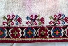 The embroidery patterns of Samokov region are very important part of Bulgarian ethnographical life. Folk Embroidery, Embroidery Patterns, Folk Costume, Costumes, Bulgarian, Elsa, Cross Stitch, Traditional, Antiques