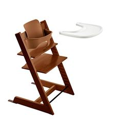 Stokke TRIPP TRAPP with Baby Set and Tray – Walnut Brown