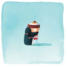 """by Oliver Jeffers: from """"Lost and Found"""" ... one of my favourite, heartwarming moments from a favourite, heartwarming book :)"""
