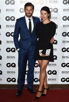Jamie Dornan & his wife Amelia Warner at the GQ Men of the Year Awards (2014)