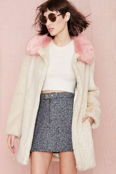 Unreal Fur Candy Blossom Coat #fauxfur #pastelfur