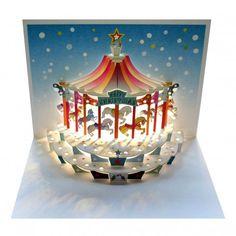 Christmas Carousel - Amazing Pop-up Greeting Card