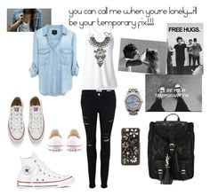 """Temporary fix"" by maryanacoolstyles ❤ liked on Polyvore featuring Frame Denim, Dondup, Converse, Yves Saint Laurent, DYLANLEX, Dolce&Gabbana and Rolex"