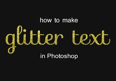 Have you been seeing glitter text everywhere lately and wondered how it was done? Glitter text is so cool to look at and is equally fun to make! It's so easy too!! We'll show you how to make glitter text using Photoshop Elements in just a few simple steps. Of course, any version of Photoshop …