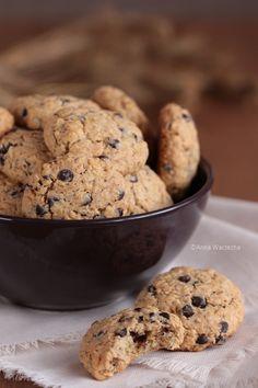 Ciasteczka owsiane z czekoladą i orzechami Baby Food Recipes, Cake Recipes, Snack Recipes, Dessert Recipes, Snacks, Desserts, Cookies And Cream Cake, Oatmeal Cookies, Chocolate Cookies