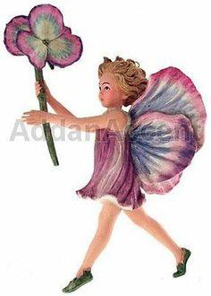 PANSY FAERY Flower Fairy Ornament Cicely Mary Barker faerie figurine