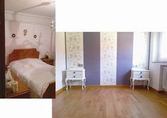 Antes y despues en un dormitorio de una vivienda antigua